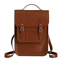 Buy Cambridge Satchel Portrait Leather Backpack, Brown Online at johnlewis.com