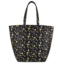 Buy Collection WEEKEND by John Lewis Star Print North/South Tote, Black Gold Online at johnlewis.com