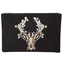 Buy Collection WEEKEND by John Lewis Doe Clutch, Black Online at johnlewis.com