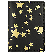 Buy Collection WEEKEND by John Lewis Star Simple Cardholder, Black/Gold Online at johnlewis.com