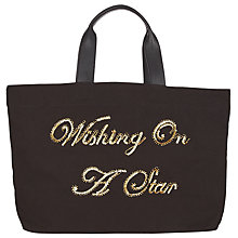 Buy Collection WEEKEND by John Lewis Wishing Slogan Tote, Black Online at johnlewis.com
