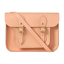 "Buy The Cambridge Satchel Company 11"" Classic Leather Satchel Bag, Oyster Online at johnlewis.com"