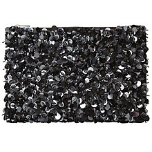 Buy John Lewis Maxi Sequin Clutch, Black Online at johnlewis.com