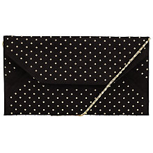 Buy John Lewis Abby Stud Envelope Clutch Bag, Black Online at johnlewis.com