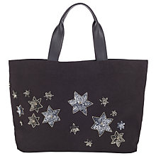 Buy Collection WEEKEND by John Lewis Star Tote, Black/Silver Online at johnlewis.com
