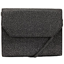Buy Kin by John Lewis Loren Clutch Box Bag, Black/ Silver Online at johnlewis.com