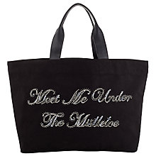 Buy Collection WEEKEND by John Lewis Mistletoe Slogan Tote, Navy Online at johnlewis.com