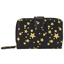 Buy Collection WEEKEND by John Lewis Star Foldover Purse, Black/Gold Online at johnlewis.com