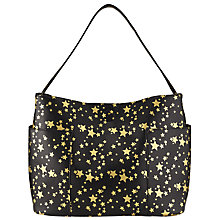 Buy Collection WEEKEND by John Lewis Star Print Tote, Black/Gold Online at johnlewis.com