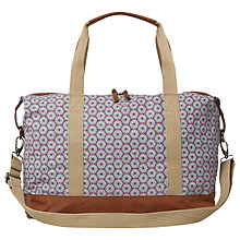 Buy White Stuff Canvas Printed Holdall, Navy Online at johnlewis.com