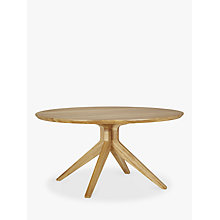 Buy Matthew Hilton for Case Cross 6-Seater Round Dining Table, Oak Online at johnlewis.com