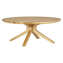 Buy Matthew Hilton for Case Cross Round Coffee Table, Oak Online at johnlewis.com