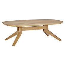 Buy Matthew Hilton for Case Cross Oval Coffee Table, Oak Online at johnlewis.com