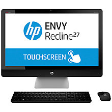 "Buy HP Envy Recline 23-k470na All-in-One Desktop PC, Intel Core i7, 16GB RAM, 2TB, 27"" Touch Screen, Black Online at johnlewis.com"