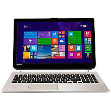 "Buy Toshiba Satellite S50D-B-100 Laptop, AMD A10, 8GB RAM, 1TB, 15.6"", Metallic + Target City Smart Slipcase Online at johnlewis.com"