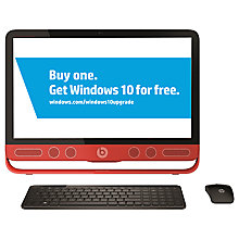 "Buy HP Envy Beats Edition 23-n250na All-in-One Desktop PC, Intel Core i5, 12GB RAM, 1TB, 23"" Touch Screen, Black & Red Online at johnlewis.com"
