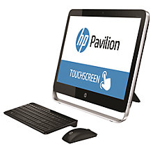 "Buy HP Pavilion TouchSmart 23-p250na All-in-One Desktop PC, Intel Core i5, 8GB RAM, 2TB, 23"" Touch Screen, Black Online at johnlewis.com"