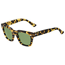 Buy Gucci GG1099/S Rectangular Framed Sunglasses, Tortoise Online at johnlewis.com