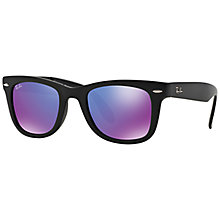 Buy Ray-Ban RB4105 Folding Wayfarer Sunglasses Online at johnlewis.com