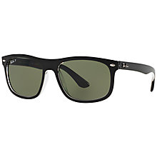 Buy Ray-Ban RB4226 Polarised Framed Sunglasses, Black Online at johnlewis.com