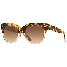 Buy Gucci GG3744/S Half Frame Sunglasses, Tortoise Online at johnlewis.com