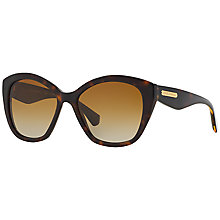 Buy Dolce & Gabbana DG4220 Polarised Square Framed Sunglasses, Brown Online at johnlewis.com