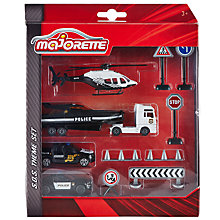 Buy Majorette SOS Police Vehicle Set Online at johnlewis.com