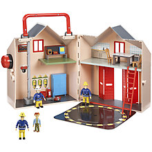 Buy Fireman Sam Fire Station Set Online at johnlewis.com