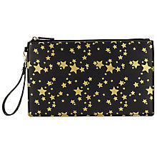 Buy Collection WEEKEND by John Lewis Star Wrist Pouch, Black Online at johnlewis.com