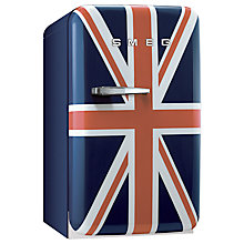 Buy Smeg FAB5RUJ Mini Fridge, 50cm Wide, Union Jack Online at johnlewis.com