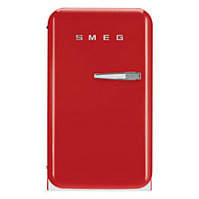 Buy Smeg FAB5LR Mini Fridge, 50cm Wide, Red Online at johnlewis.com
