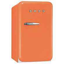 Buy Smeg FAB5RO Mini Fridge, 50cm Wide, Orange Online at johnlewis.com