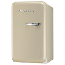 Buy Smeg FAB5LP Mini Fridge, 50cm Wide, Cream Online at johnlewis.com