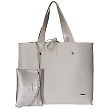 Buy Calvin Klein Stef Convertible Shopper Bag, White/Silver Online at johnlewis.com