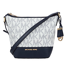 Buy MICHAEL Michael Kors Bedford Small Leather Messenger Bag Online at johnlewis.com
