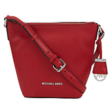 Buy MICHAEL Michael Kors Bedford Leather Small Messenger Bag Online at johnlewis.com