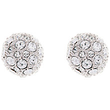 Buy Ted Baker Gliters Pave Ball Stud Earrings, Silver Online at johnlewis.com