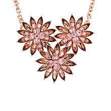 Buy Ted Baker Florena Flower Bloom Necklace, Pink Online at johnlewis.com