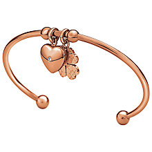 Buy Folli Follie Heart4Heart Dome Sweetheart Bangle Online at johnlewis.com