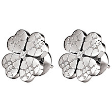 Buy Folli Follie Heart4Heart Sweetheart Earrings, Silver Online at johnlewis.com