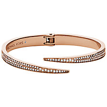 Buy Michael Kors Rose Gold Toned Matchstick Hinge Open Cuff, Rose Gold Online at johnlewis.com
