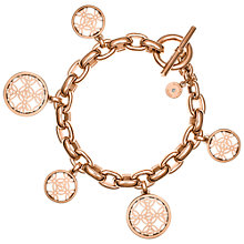 Buy Michael Kors Mongoram Toggle Bracelet, Rose Gold Online at johnlewis.com