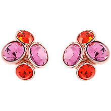 Buy Ted Baker Lynda Jewel Cluster Butterfly Stud Earrings, Orange Online at johnlewis.com