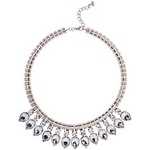 Buy Ted Baker Emari Pear Drop Aqua Necklace, Silver Online at johnlewis.com