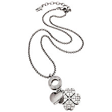 Buy Folli Follie Heart4Heart Sweetheart Necklace, Silver Online at johnlewis.com