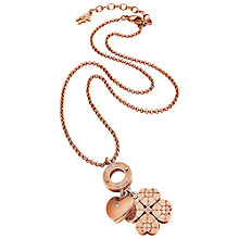 Buy Folli Follie Heart4Heart Sweetheart Necklace Online at johnlewis.com