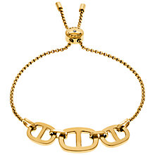 Buy Michael Kors Gold Toned Maritime Slider Bracelet, Gold Online at johnlewis.com