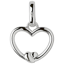 Buy Links of London Keepsakes Sterling Silver Tie the Knot Heart Charm, Silver Online at johnlewis.com