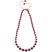 Buy Lola Rose Apollo Necklace, Red Plum Quartzite Online at johnlewis.com