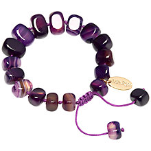 Buy Lola Rose Fern Bracelet, Purple Montana Agate Online at johnlewis.com